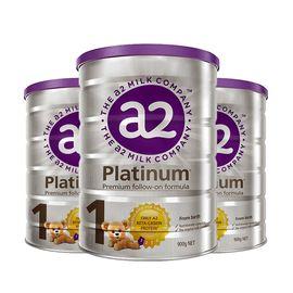 a2 白金升级版 婴儿配方奶粉1段0~6个月900克*3罐(新西兰原装)