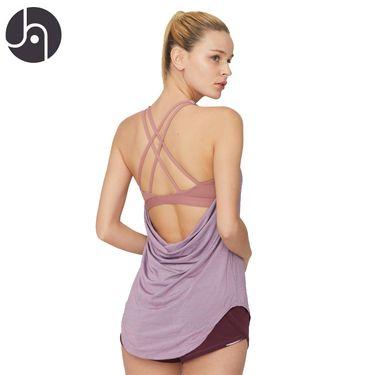 jambeau  瑜伽细带美背背心女 宽松休闲运动上衣 性感露背运动服弹力速干舒适内置内衣