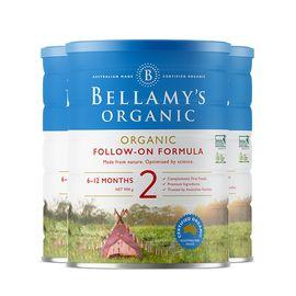Bellamy's/贝拉米 2段婴幼儿有机牛奶粉900g(6-12个月) 澳洲进口 美易在线
