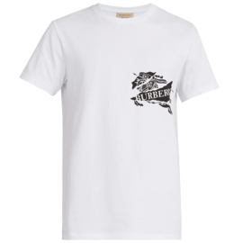 BURBERRY 【19年新款】博柏利 标志印花棉质男士短袖T恤#8007014 联正国际