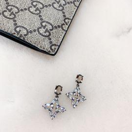 Silver 水钻镶嵌四角星带闪小星星耳坠 韩国原创设计 buyer