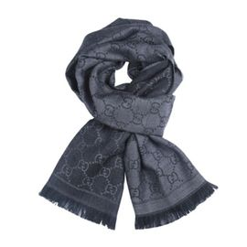 Gucci/古驰 大S同款男女士双G纹羊毛丝巾方巾披肩围巾 意大利进口 洋码头