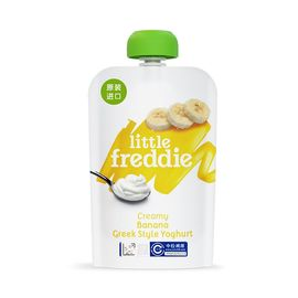 LITTLE REMEDIES LittleFreddie小皮 希腊式酸奶果泥100克/袋【厌食厌奶也爱吃】