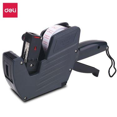 得力 (deli)8位单排标价机 商超标签打码机/打价器 灰色7500