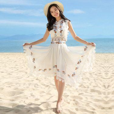 海边度假套装三亚旅游裙子女夏巴厘岛沙滩裙超仙显瘦时尚泰国性感8336