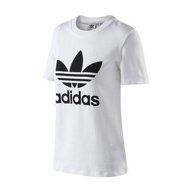 Adidas 阿迪达斯三叶草运动服秋新款女装大LOGO款短袖T恤CV9888