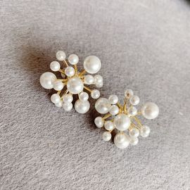 Silver 韩国新款气质耳环复古珍珠网红设计感小众耳饰纯银 buyer
