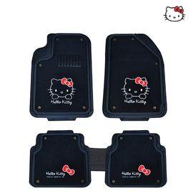 【易购】Hello kitty可爱卡通女性汽车脚垫双层可拆卸地垫冬季毛绒踏垫 红色