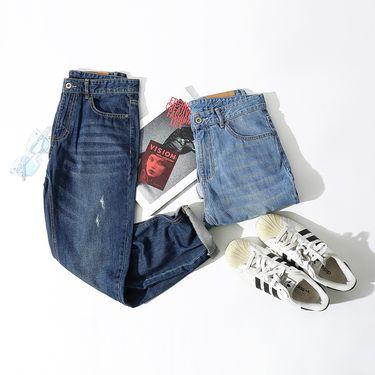 男式牛仔裤 以纯线上品牌新款男士牛仔裤男裤子秋冬直筒牛仔裤男士牛仔裤