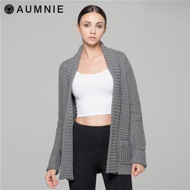 aumnie 澳弥尼丨女士秋冬运动外套休闲健身瑜伽服素羊毛开衫 SJ005