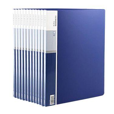 【易购】得力5002 A4资料册20页资料夹透明插页夹插袋文件夹 办公用品文具 12个装