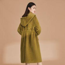 女式大衣 连帽呢大衣