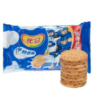 优冠 牛奶香脆饼干 随身独立小包装零食 300g