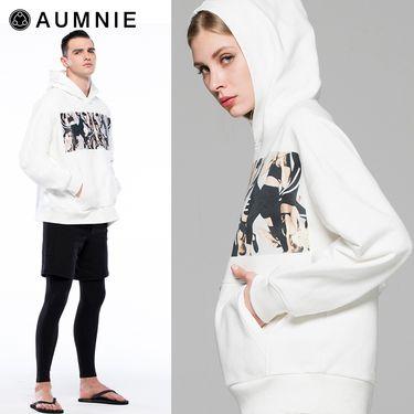 aumnie 澳弥尼丨男女同款新秋冬外套健身瑜伽服宽松LOGO连帽上衣