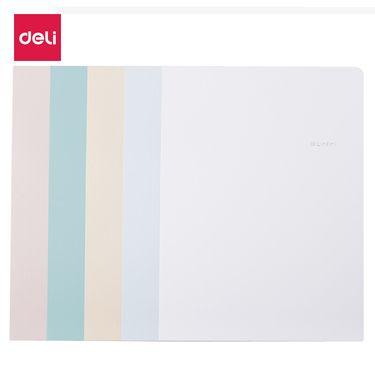 得力 (deli)乐素系列5色套装A4文件套 两页式双面可插文件夹文件袋 72454