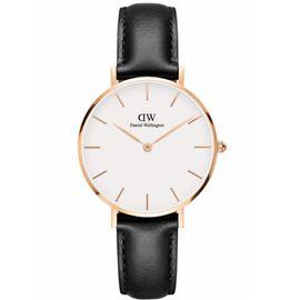 Daniel Wellington 丹尼尔惠灵顿  手表DW女表 金色边白盘皮带女士手表学生手表 32mm(享)