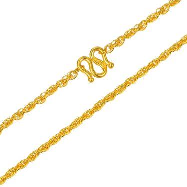 翠绿 黄金项链 足金999女款绞丝链A01000090019